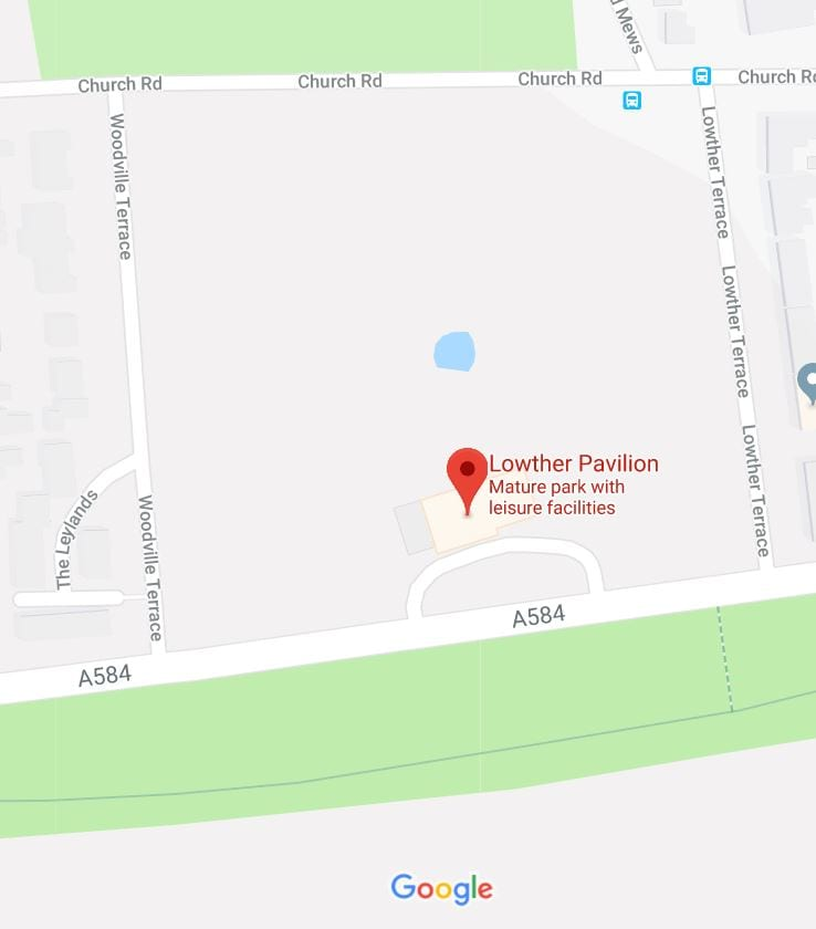 Google map of where to find Lowther Gardens