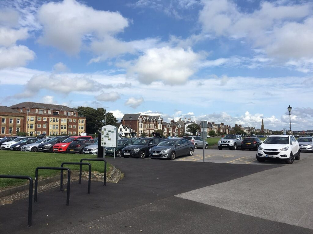 Pay and display car Park on Lytham Green