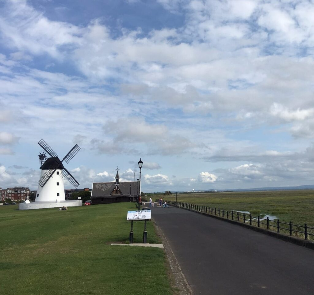 Lytham windmill on the Green at Lytham Seafront
