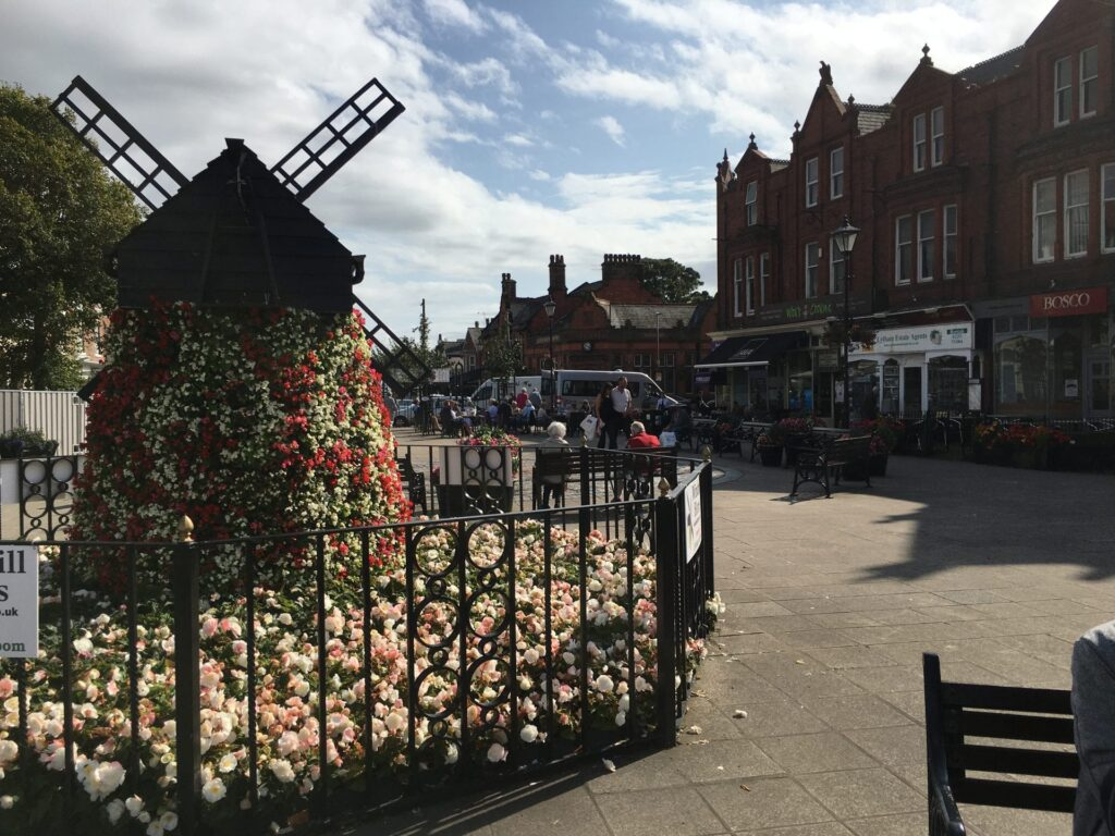 The Lytham in Bloom windmill at Clifton Square