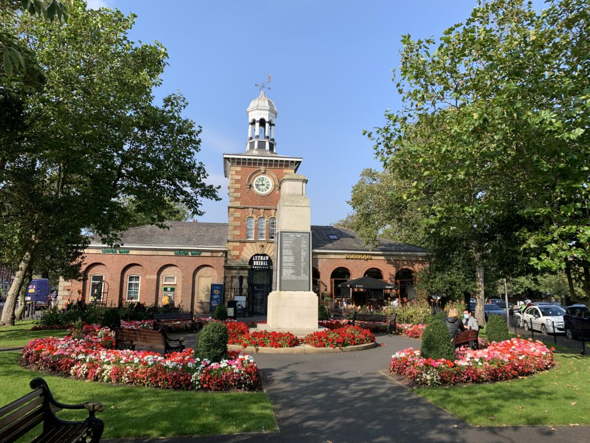 Lytham Memorial Garden at the heart of the town centre
