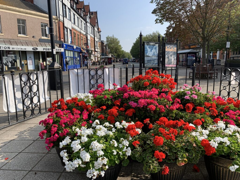 Lytham in Bloom look after Clifton Square at the heart of the town centre