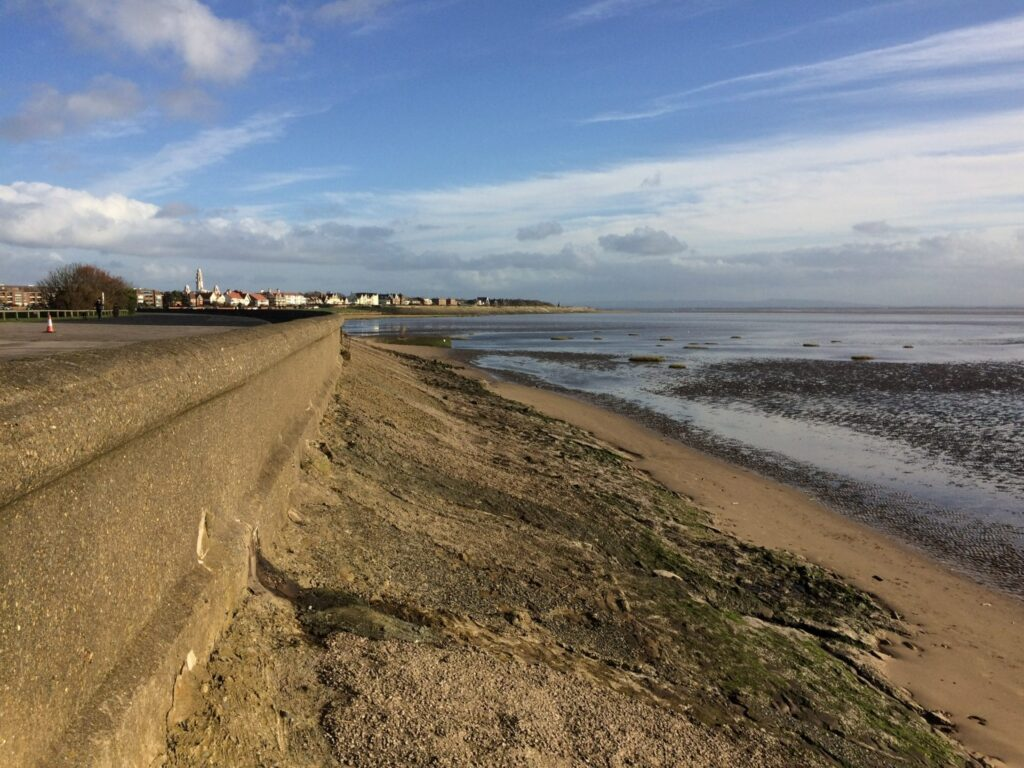 The seafront near Fairhaven Lake looking towards Lytham. By Phyllis Barltrop
