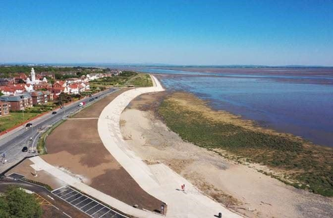 New sea defences at Granny's Bay in 2020. Photo: Fylde Council