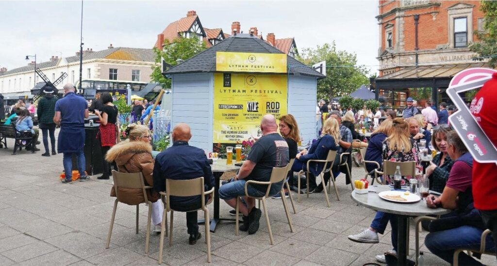 Cafe Society in the Square. Photo: Sue Massey