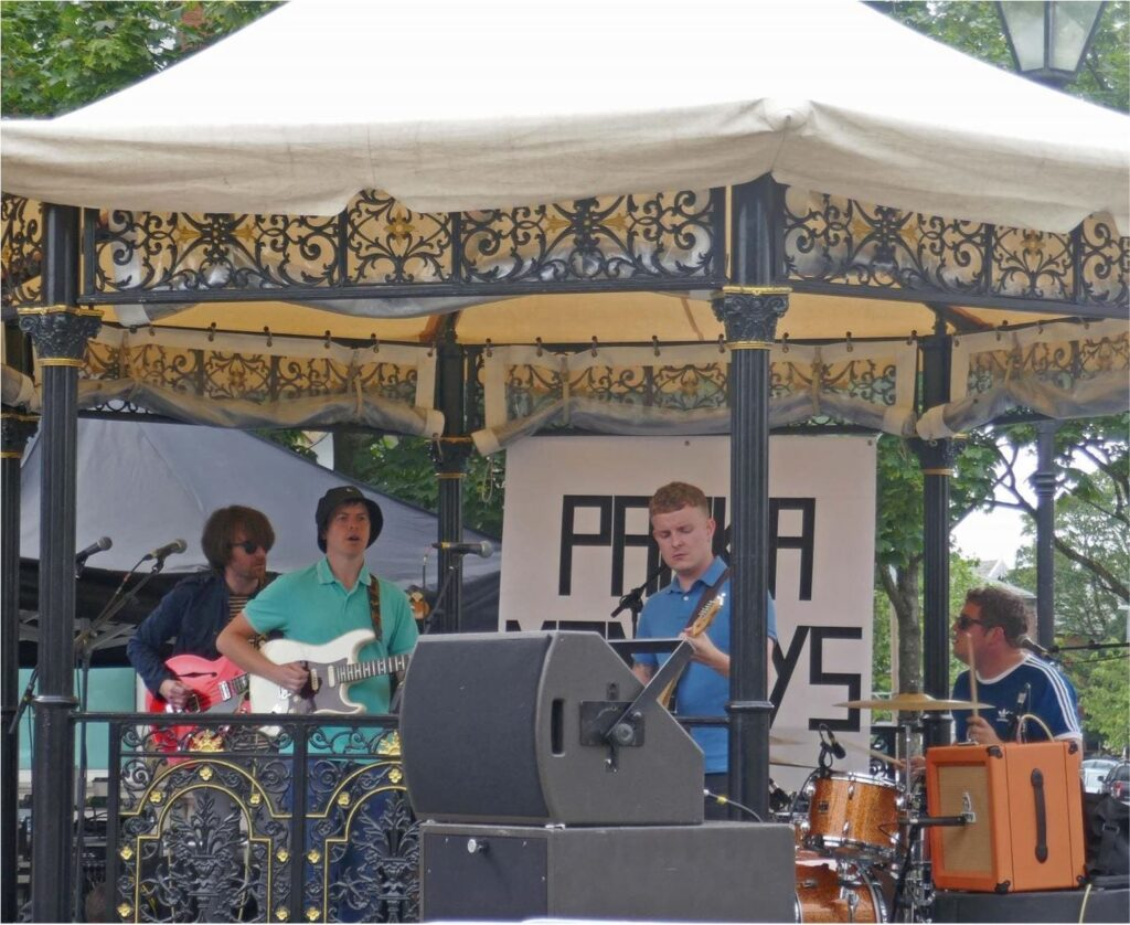 Parka Monkeys performing in Lytham Square. Photo: Sue Massey