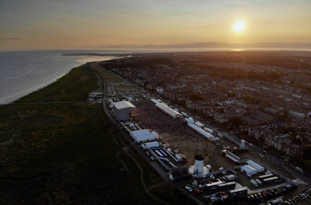 Sunset over Lytham Festival by Andy Green